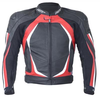 Kožená bunda RST Blade II čierno-červená, na motorku