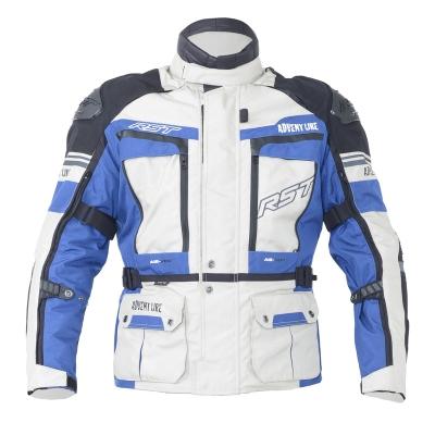 Textilná bunda RST PRO series adventure III bielo-modrá, na motorku