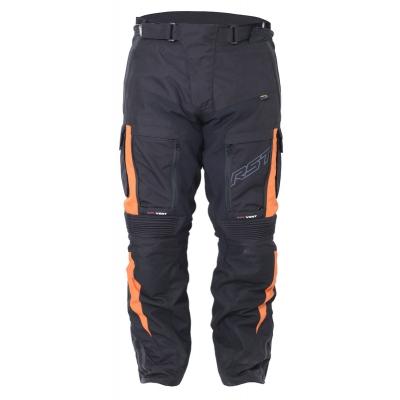 Textilné nohavice RST Adventure III PRO series čierno-oranžové, na motorku