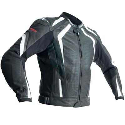 Kožená bunda RST R-18 čierno-biela