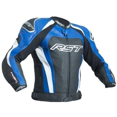 Kožená bunda RST TRACTECH EVO III - čierno-modrá