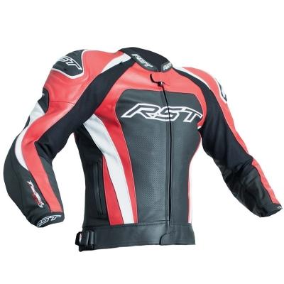 Kožená bunda RST TRACTECH EVO III - čierno-červená