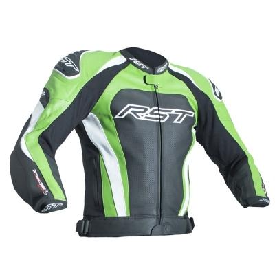 Kožená bunda RST TRACTECH EVO III - čierno-zelená