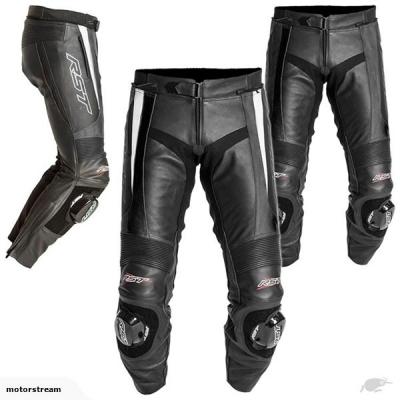 Kožené nohavice RST Blade Lady čierno-biele, na motorku