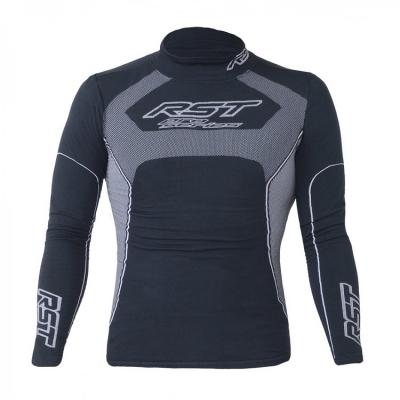 Termoaktívne tričko RST 0219 Tech X Coolmax, dlhý rukáv, sivo-čierne