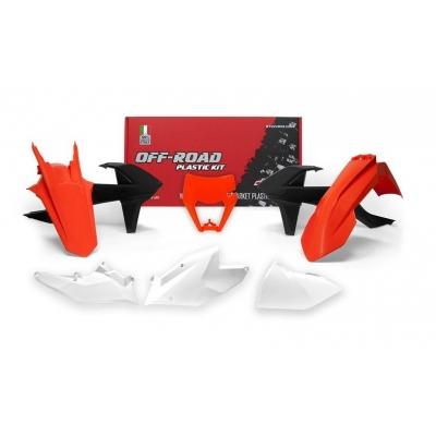 Sada plastov RTech - oranžová, čierna, biela KTM