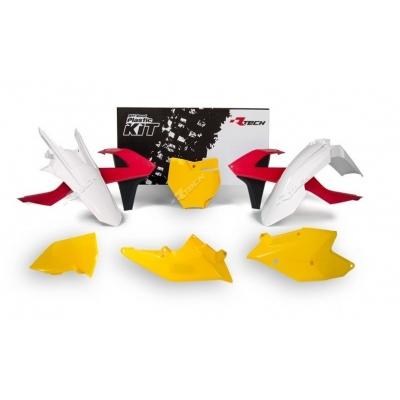 Sada plastov RTech - žltá, biela, červená limited edition KTM