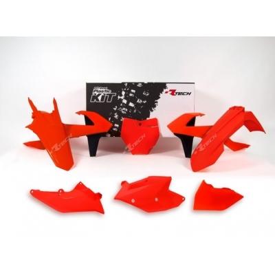 Sada plastov RTech - neónová oranžová KTM