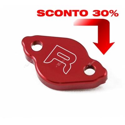 Víčko kvapaliny zadnej brzdy hliníkové červena