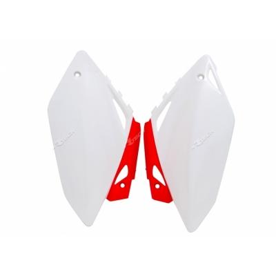 Zadné tabuľky bielo červena