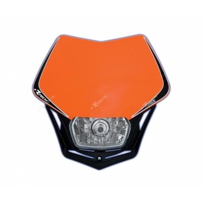 Predná maska so svetlom V-FACE LED oranžovo čierna