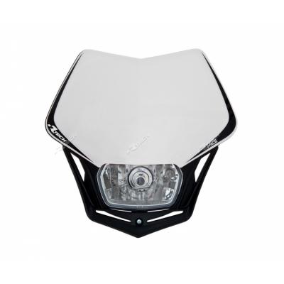 Predná maska so svetlom V-FACE bielo čierna