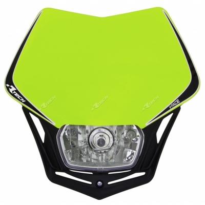 Predná maska so svetlom V-FACE neonovo žlto čierna