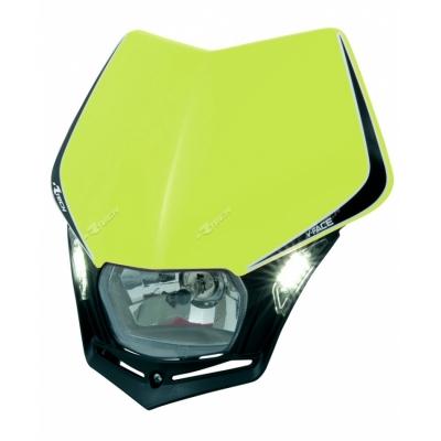Predná maska so svetlom V-FACE LED neonovo žlto čierna