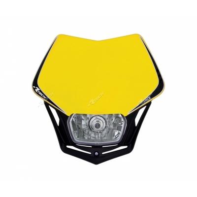Predná maska so svetlom V-FACE žlto čierna