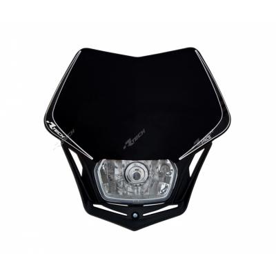 Predná maska so svetlom V-FACE čierna