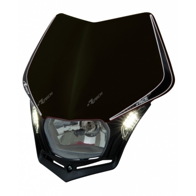 Predná maska so svetlom V-FACE LED čierna