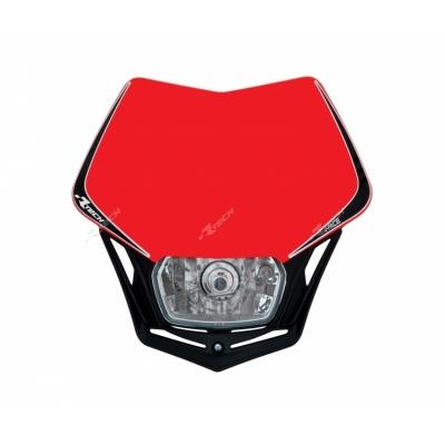 Predná maska so svetlom V-FACE červeno čierna