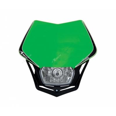 Predná maska so svetlom V-FACE zelen čierna