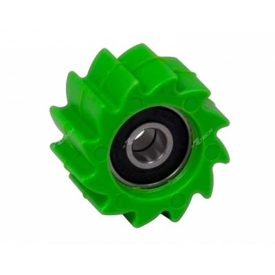 Vodítko reťaze kolečko zelena