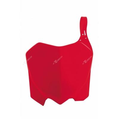 Predná tabuľka červena
