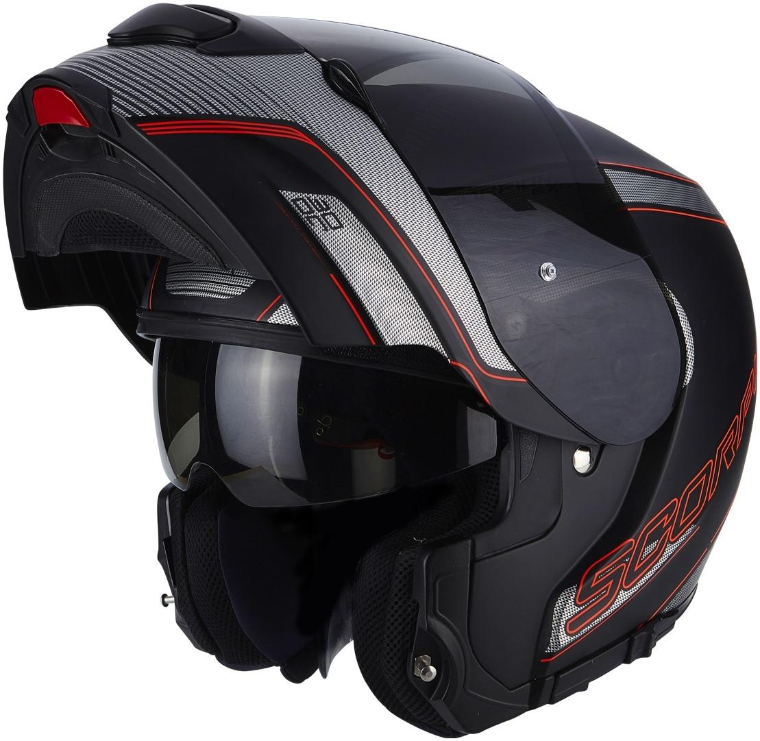 Prilba Scorpion EXO-3000 AIR Stroll čierno-strieborn-červená b81f9204076