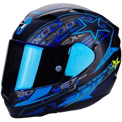 Prilba Scorpion EXO-1200 Solis čierno-modrá matná, na motorku