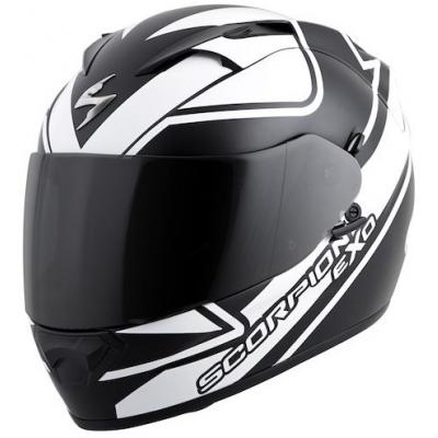 Prilba Scorpion EXO-1200 Freeway čierno-biela matná, na motorku