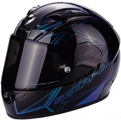 Prilba Scorpion EXO-710 Line Chameleón - čierno-modrá, na motorku