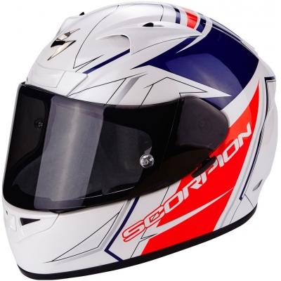 Prilba Scorpion EXO-710 Line bielo-červeno-modrá, na motorku