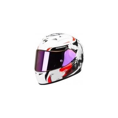 Prilba Scorpion EXO-710 Cerberus bielo-červená, na motorku