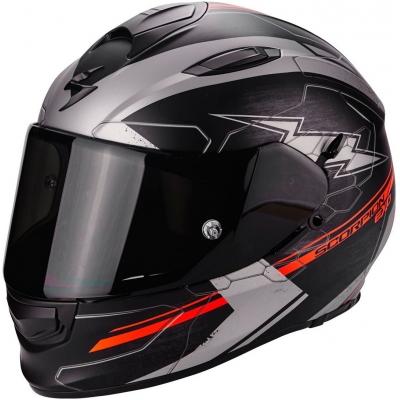 Prilba Scorpion EXO-510 Cross čierno-sivo-neónovočervená matná, na motorku