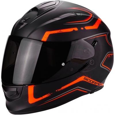 Prilba Scorpion EXO-510 Radium čierno-oranžová matná, na motorku