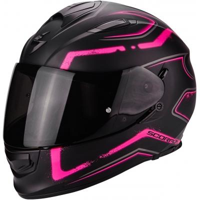 Prilba Scorpion EXO-510 Radium čierno-ružová matná, na motorku