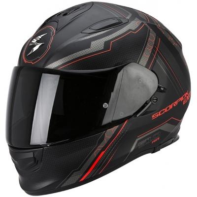 Prilba Scorpion EXO-510 Sync čierno-neónovočervená matná, na motorku
