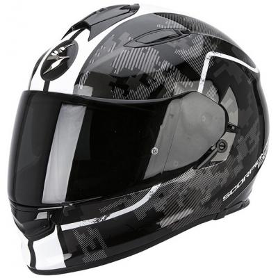 Prilba Scorpion EXO-510 Guard čierno-biela, na motorku
