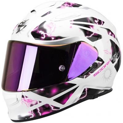 Prilba Scorpion EXO-510 Xena bielo-ružová, na motorku
