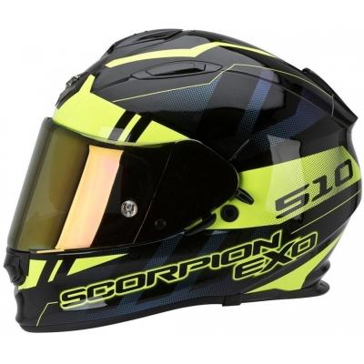 Prilba Scorpion EXO-510 Stage čierno-neónovožltá, na motorku