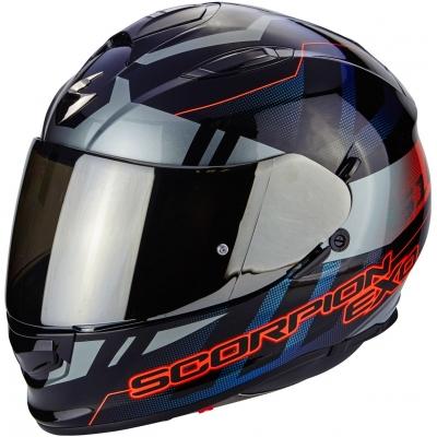 Prilba Scorpion EXO-510 Stage čierno-sivo-červená, na motorku