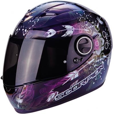 Prilba Scorpion EXO-490 Dream Chameleón - čierno-fialová, na motorku