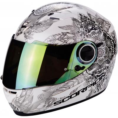 Prilba Scorpion EXO-490 Dream Chameleón - bielo-čierna, na motorku