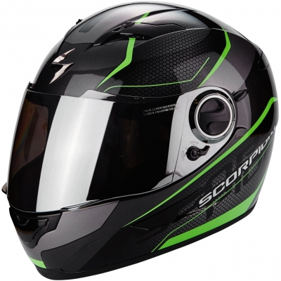 Prilba Scorpion EXO-490 Vision čierno-zelená, na motorku