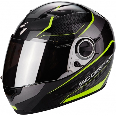 Prilba Scorpion EXO-490 Vision čierno-neónovožltá, na motorku