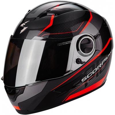 Prilba Scorpion EXO-490 Vision čierno-neónovočervená, na motorku