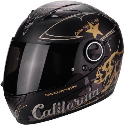 Prilba Scorpion EXO-490 Goldenstate čierno-zlatá matná, na motorku