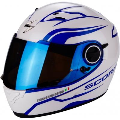 Prilba Scorpion EXO-490 Luz bielo-modrá, na motorku