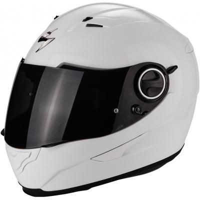 Prilba Scorpion EXO-490 Solid biela, na motorku