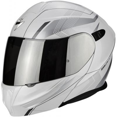 Prilba Scorpion EXO-920 Gem bielo-sivá, na motorku