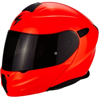 Prilba Scorpion EXO-920 Solid neónovočervená, na motorku