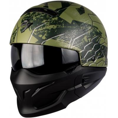 Prilba Scorpion EXO-COMBAT Ratnik zelená matná, na motorku